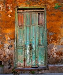 colorful cuba door photography backdrop bright colored funky