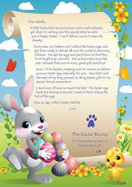 personalized easter bunnies personalised letter from the easter bunny