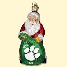 clemson tigers ornaments personalized