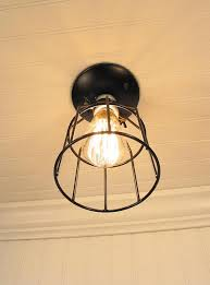 Edison Ceiling Light Industrial Cage Ceiling Light With Edison Bulb The Lamp Goods