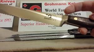 kitchen knives canada grohmann kitchen knives comparison youtube