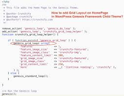 grid layout how to how to add grid layout on homepage in wordpress genesis framework