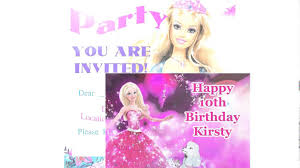 barbie birthday cards youtube