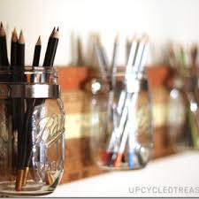 Mason Jar Bathroom Organizer Mason Jar Bathroom Organizer Mason Jar Crafts Love