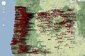 Google Map Oregon by Research Design And Geography Of The Post Jason Heppler