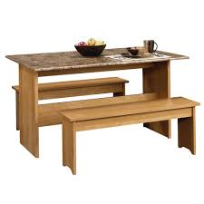 sauder beginnings highland oak 53in trestle table 413421