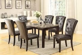 coronado rectangular dining table coronado dark brown marble dining table set
