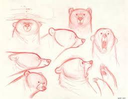 concept art mum bear expressions brave 2012 disney