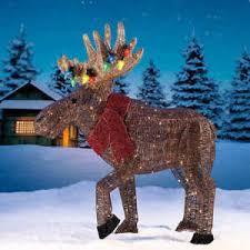 outdoor lighted moose ebay