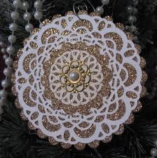 st glimmer doily ornaments