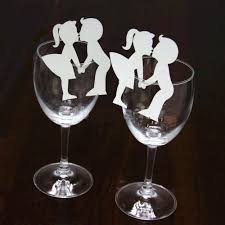 compare prices on wine glass decorations online shopping buy low 50pcs creative lovers couples escort liquor fluid wine glass paper cards for drinking bar wedding party