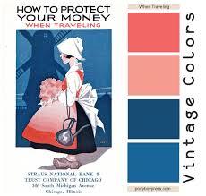 82 best vintage color palette images on pinterest vintage color