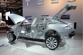2011 detroit auto show 2013 tesla model s u0027body in white u0027 live photos