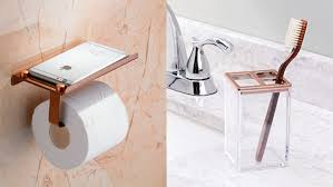 12 rose gold accessories for your bathroom reviewed com