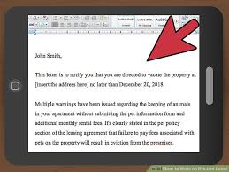 how to write an eviction letter with pictures wikihow