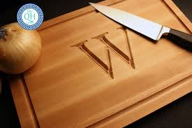 how to engrave a cutting board personalized cutting board boos custom maple engraved monogram