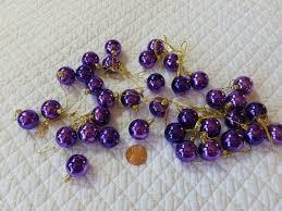 7 miniature ornaments merry