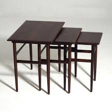 nest of tables in rosewood danish architect signed amager
