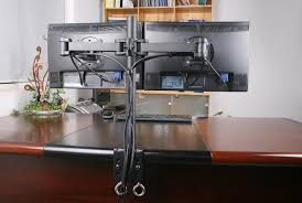 Awesome Computer Desks by Awesome Computer Desk With Three Monitor Stand Afcindustries Com
