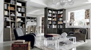 Classic Luxury Interior Design Classic Luxury Grey Lounge With Library In Chicago Martini Mobili