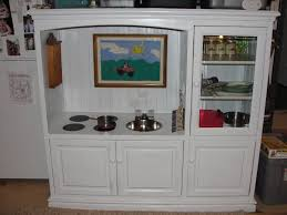childrens play kitchen out of entertainment center