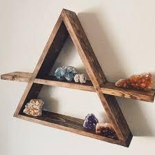 shelves wonderful pre order triangle wood shelf geometric wall