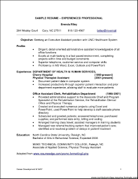 resume format for experienced professionals best resume sample