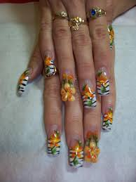 animal print with 3 d flowers nail art archive style nails