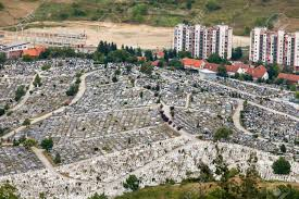 siege de sarajevo sarajevo bosnia and herzegovina aug 12 aerial view of martyr s