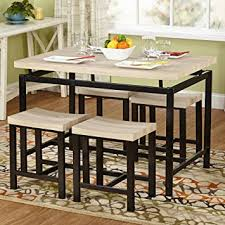 Amazoncom Target Marketing Systems Delano  Piece Dining Table - Target dining room tables
