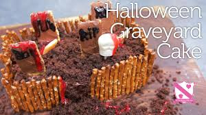 halloween graveyard cake in the kitchen with kate youtube