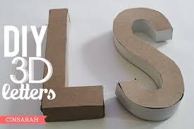 cinsarah diy 3d letters