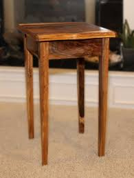 small end table with drawer live edges walnut handmade