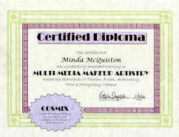 Makeup Artistry Certification Makeup By Minda Resume