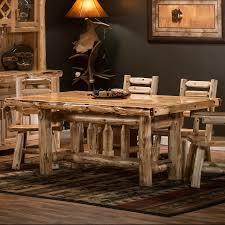 Log Dining Room Table Cedar Lake Deluxe Log Table By Woodland Creek U0027s Log Furniture