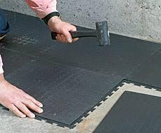 Interlocking Rubber Floor Tiles Rubber Flooring Inspection Internachi