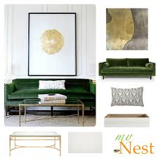 living room interior design ideas with green sofa ther with