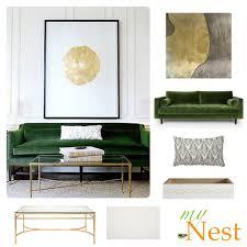 Emerald Green Velvet Sofa by Living Room Decorating Ideas Elegant Emerald Mynest