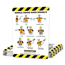 10 pk mobile crane signal cards overton safety