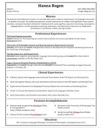 Graduate Student Resume Sample by Attractive Ideas Slp Resume Examples 1 Unforgettable Speech