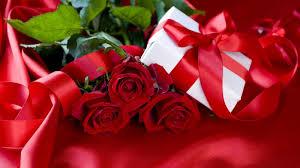 pozadine 1920x1080 hdtv 1080p božićni poklon i buket ruža