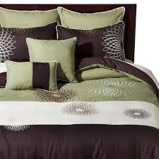 Pixel Comforter Set Green And Brown Comforter Sets 8136