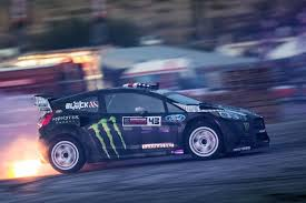 hoonigan cars real life block party ken block speaks to the irish sun while competing at