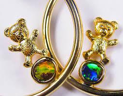18k gold earrings teaddy opal 18k gold earrings cj 1046