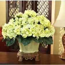 Artificial Flower Decoration For Home Cheap Artificial Floral Arrangements For Home Green Hydrangea Silk