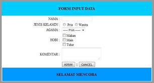 membuat form input menggunakan html membuat form input data dengan php dan fungsi mysql improve media