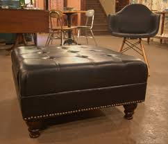 Leather Furniture Chairs Design Ideas Cozy Black Leather Ikea Ottoman With Mid Century Chair For Unique