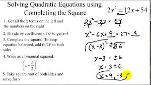 9 4 skills practice solving quadratic equations by completing the