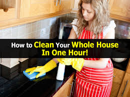 how to clean your whole house in one hour