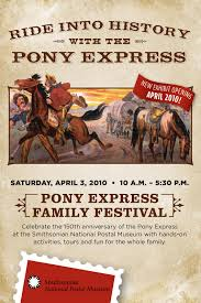 Pony Express Route Map by National Postal Museum Pony Express